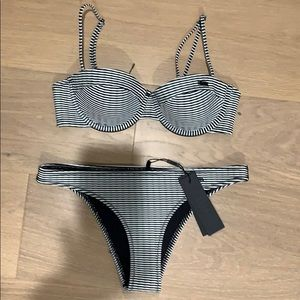 Striped Triangl Bikini